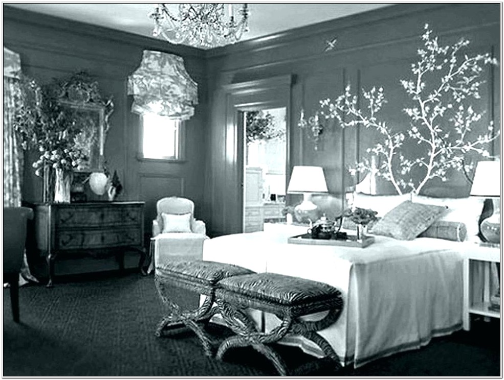 Bedroom Decor Silver And White