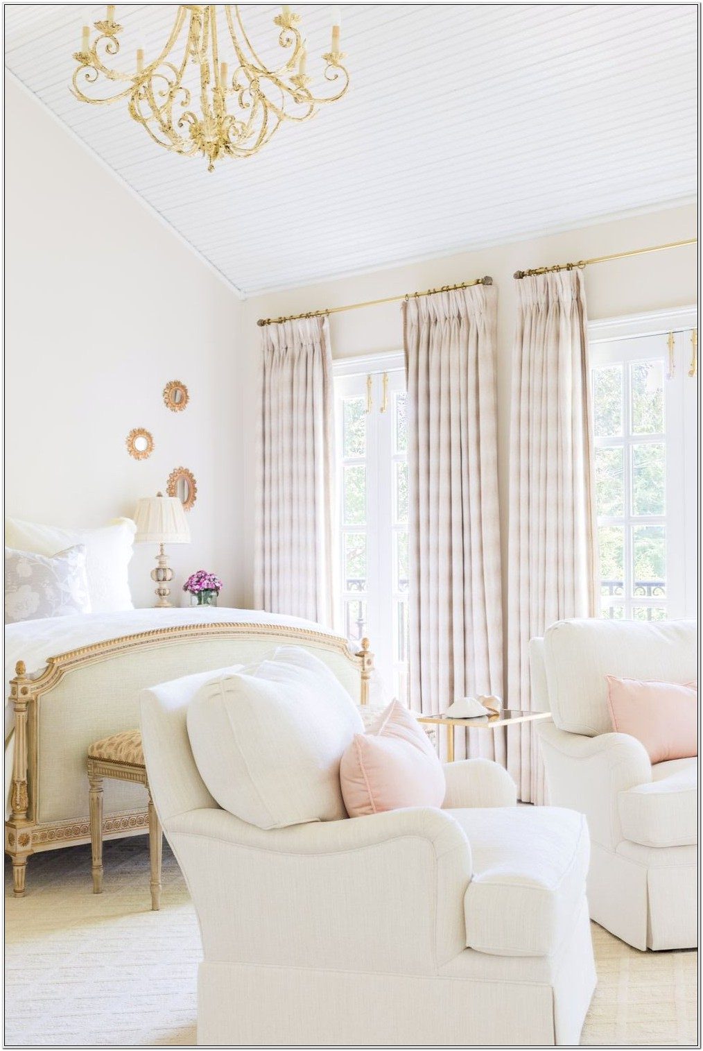 Bedroom Decor White And Gold