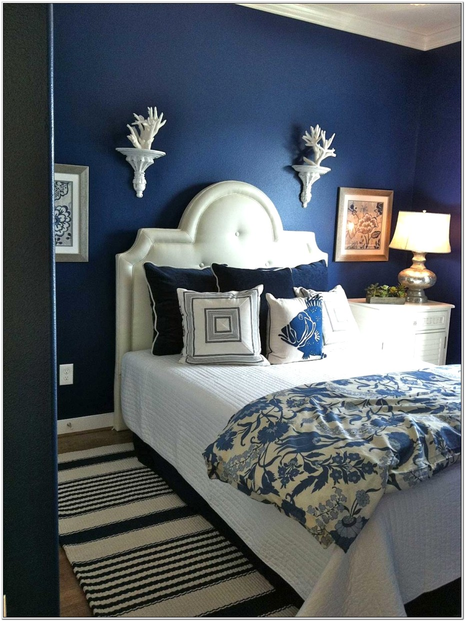 Bedroom Decor With Navy Blue Furniture