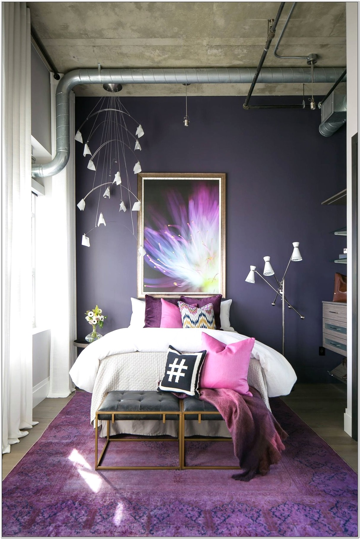 Bedroom Decorating Ideas Ivory Grey And Purple
