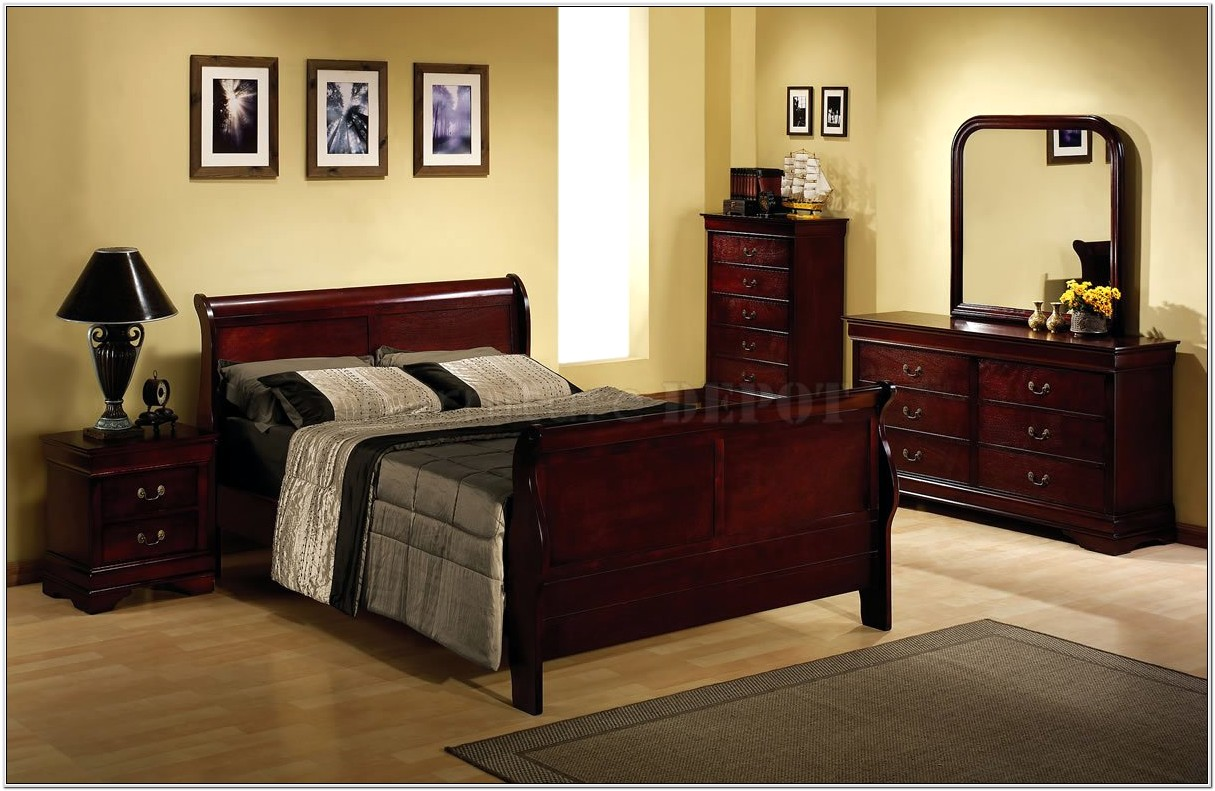 Bedroom Decorating Ideas With Cherry Wood Furniture