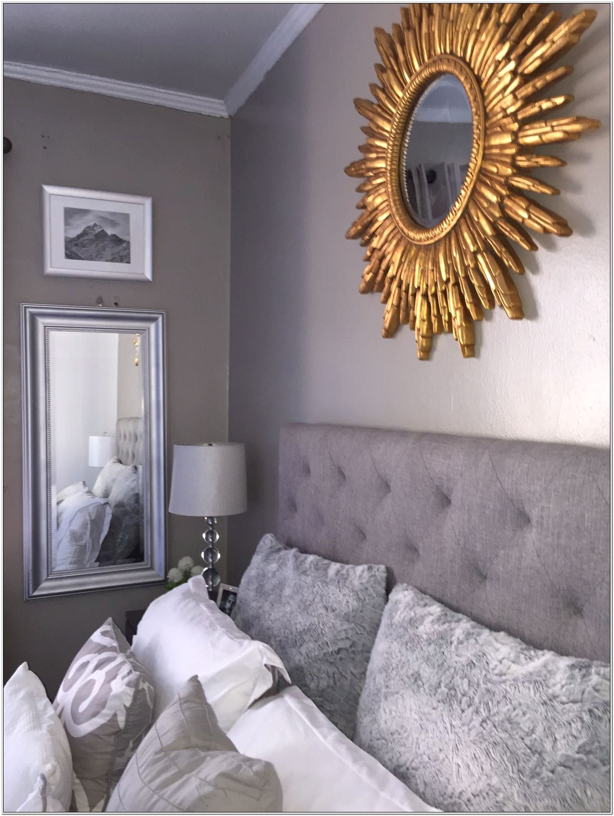 Bedrooms Decorated In Gray And Gold