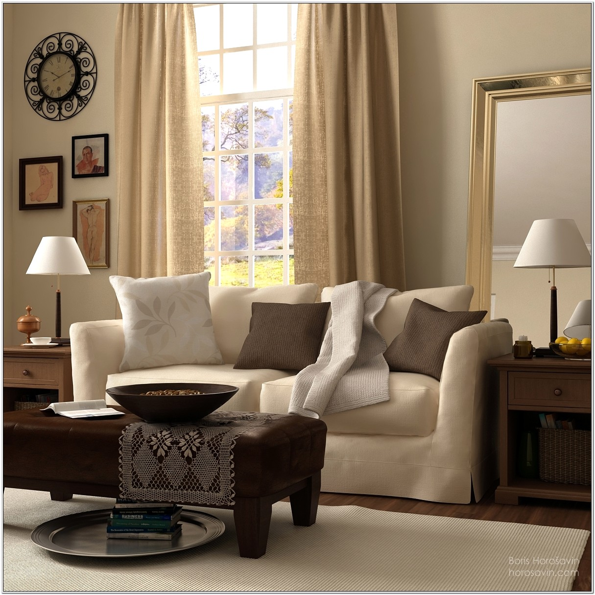 Beige Modern Living Room Ideas