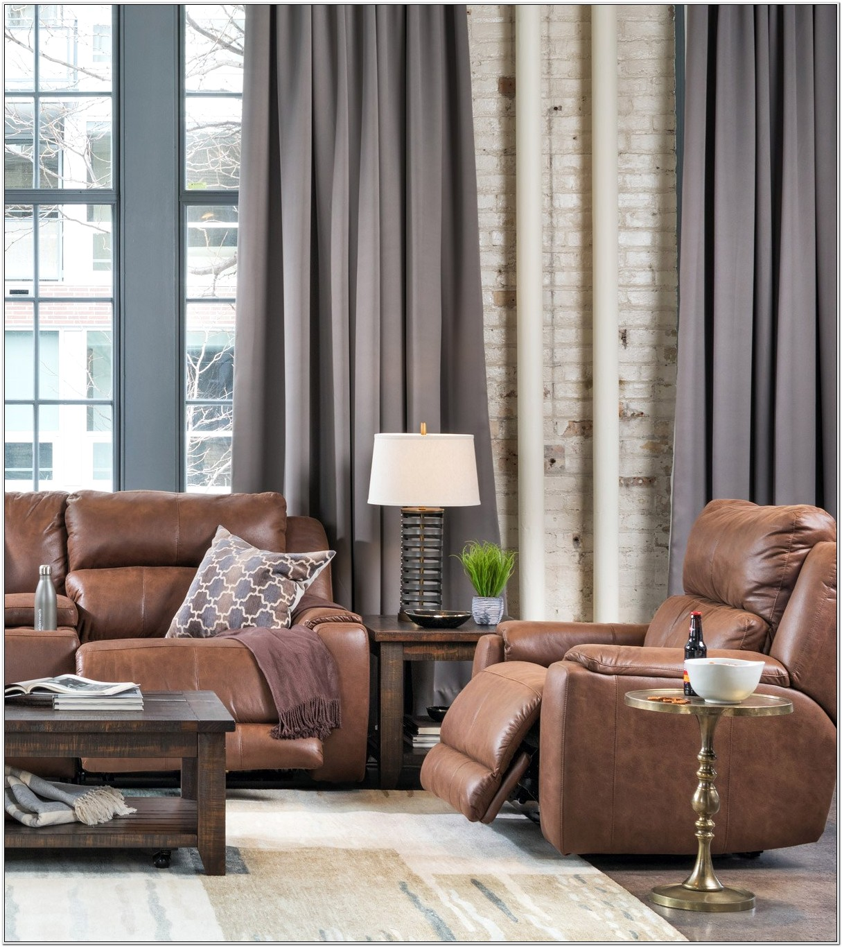 Best Mocha Curtain Designs For Living Room