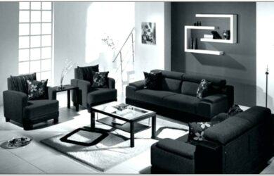 Black And Red Leather Living Room Sets