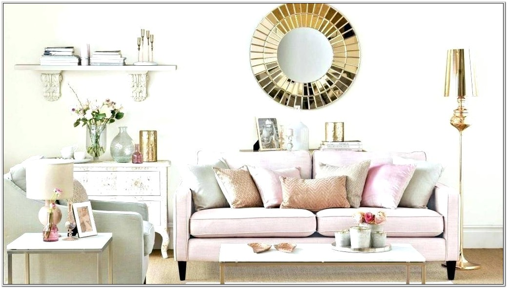 Black And Rose Gold Living Room Ideas