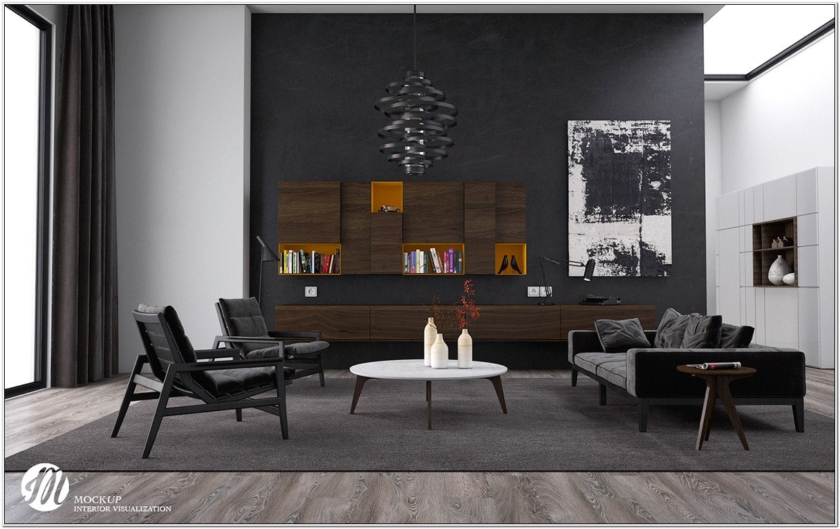 Black Modern Living Room Ideas