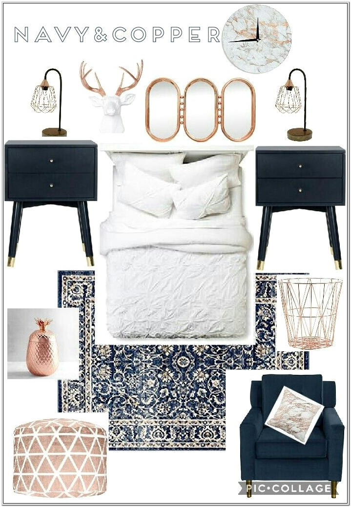 Blue And Gold Bedroom Decor Ideas