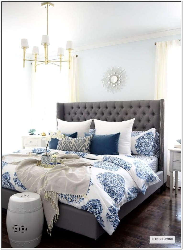 Blue And Gray Bedroom Decor