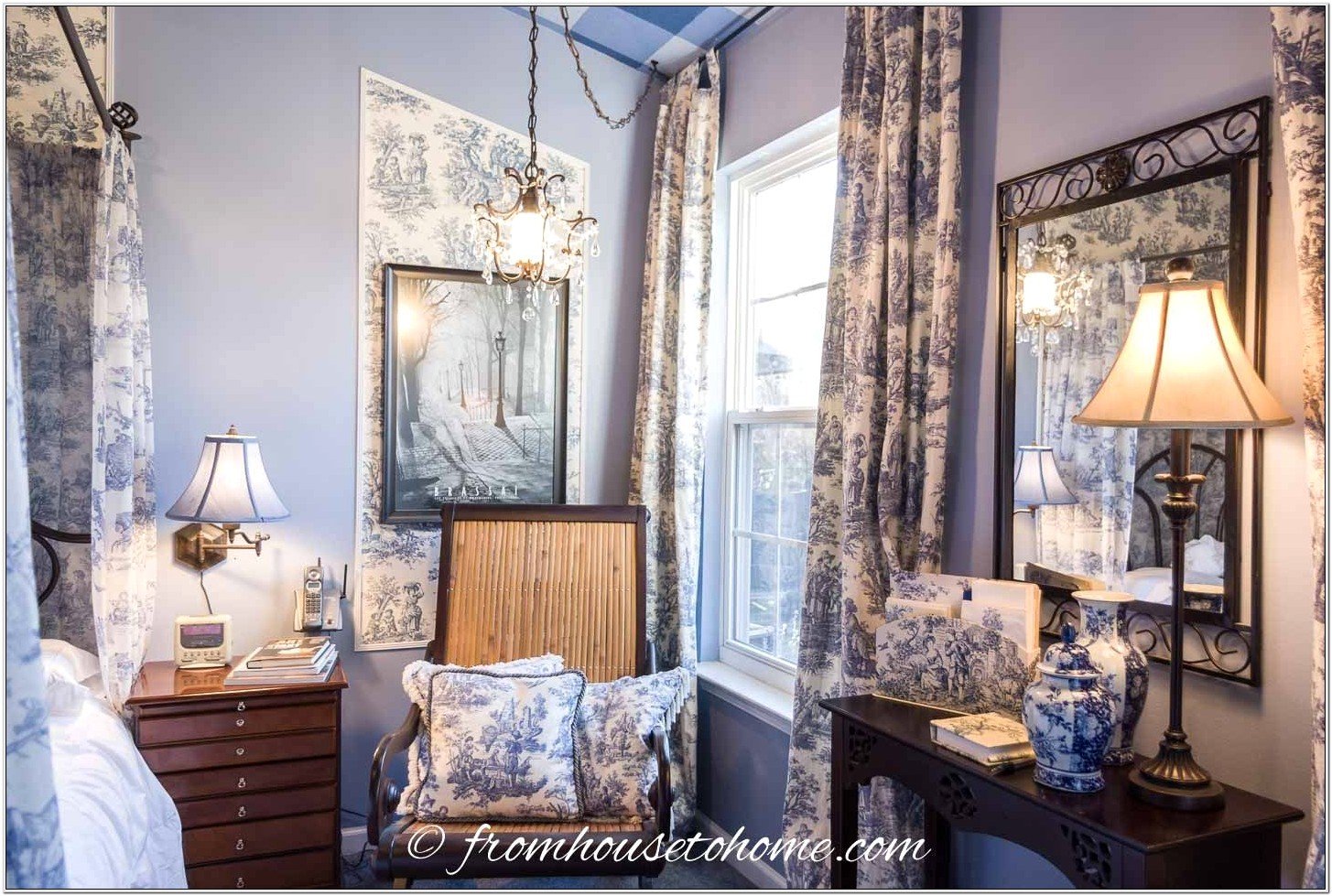 Blue Toile Bedroom Decor