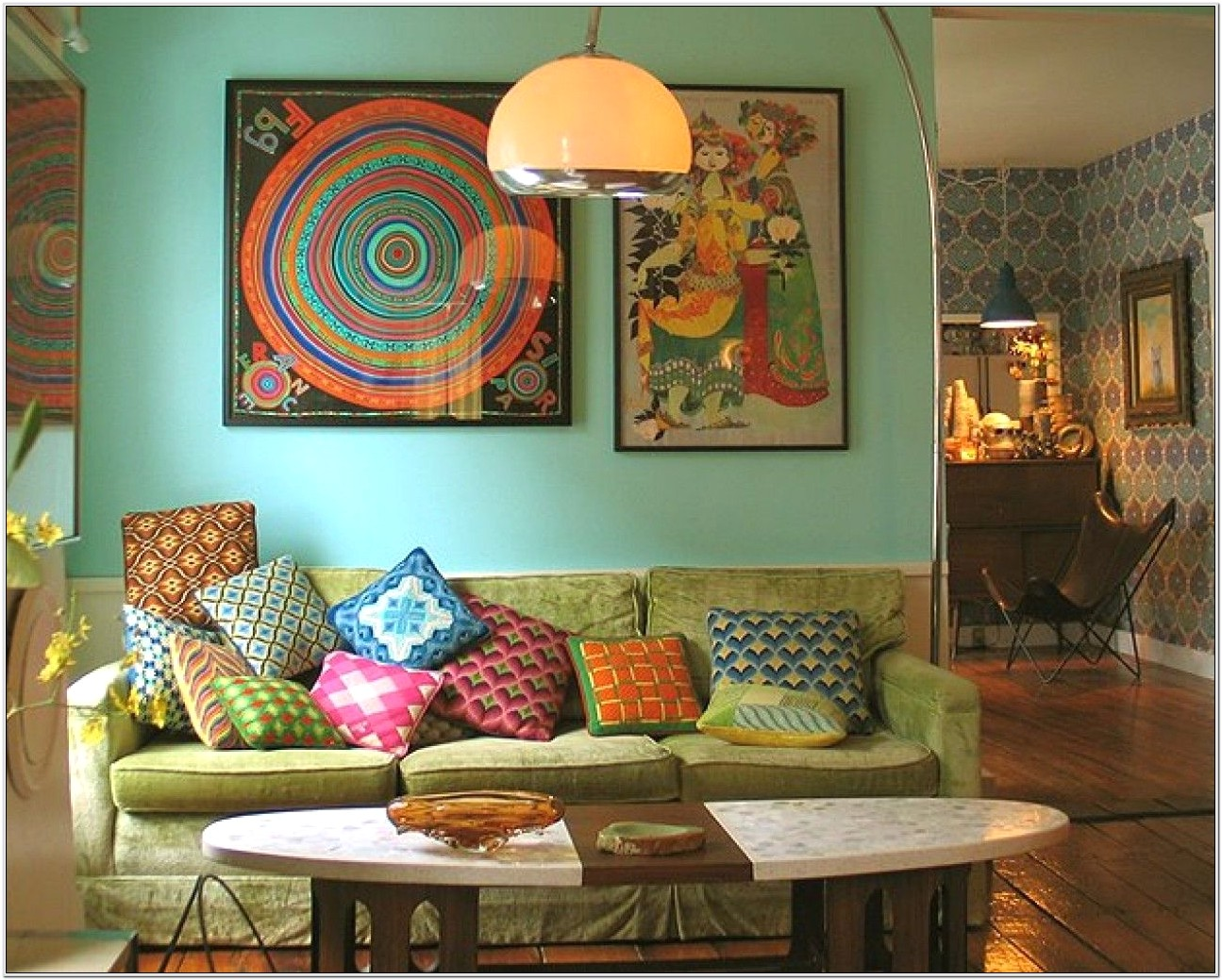 Bohemian Living Room Idea