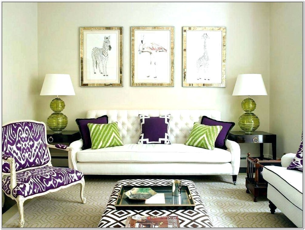 Brown And Purple Living Room Decor