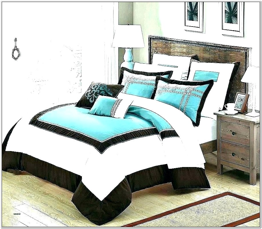 Brown And Turquoise Bedroom Decorating