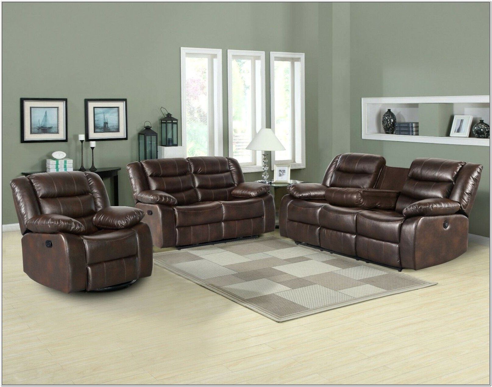 Brown Reclining Living Room Set