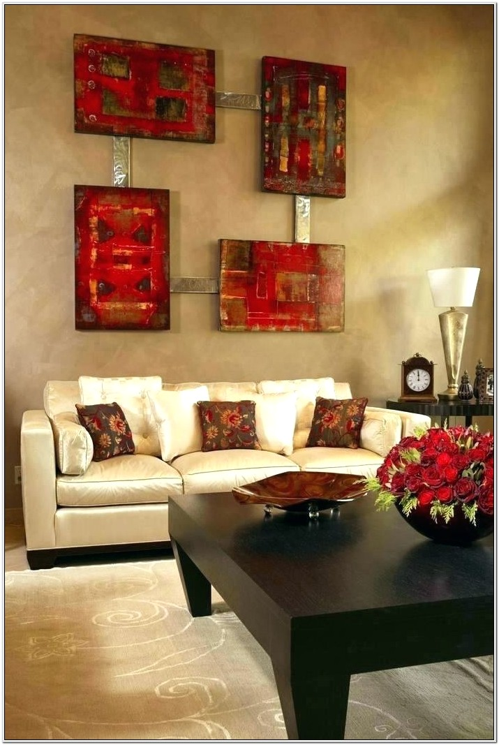 Brown Red Living Room Decor