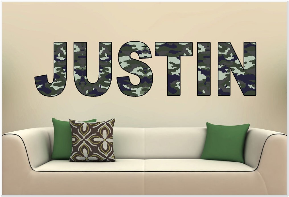 Camouflage Living Room Decor