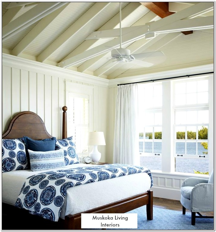 Ceiling Decorations For White Cottage Bedroom