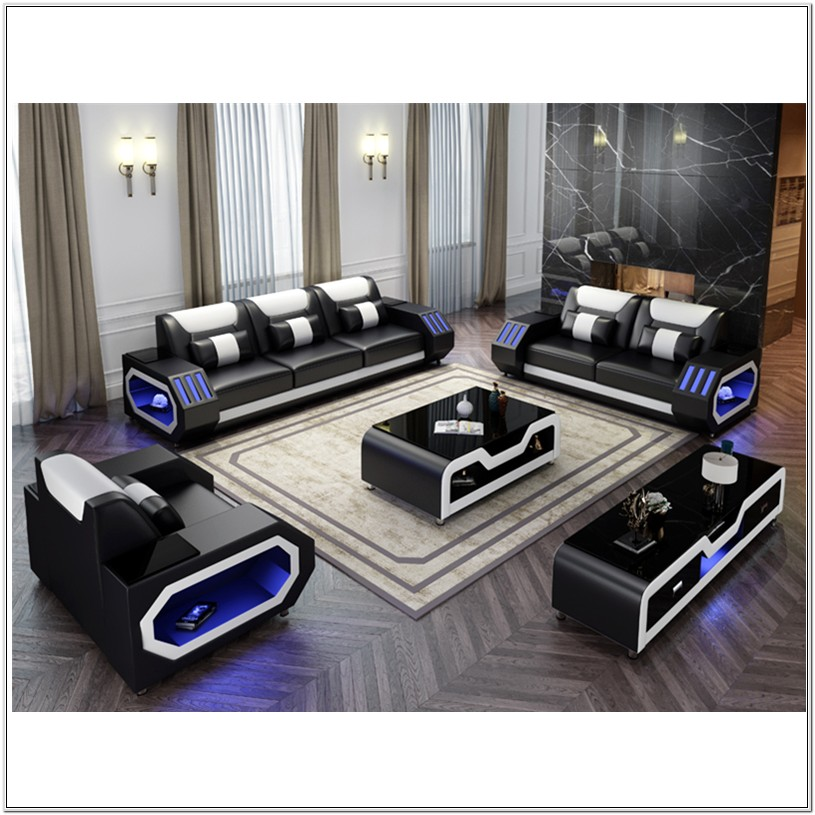 Cheap Living Room Leather Set