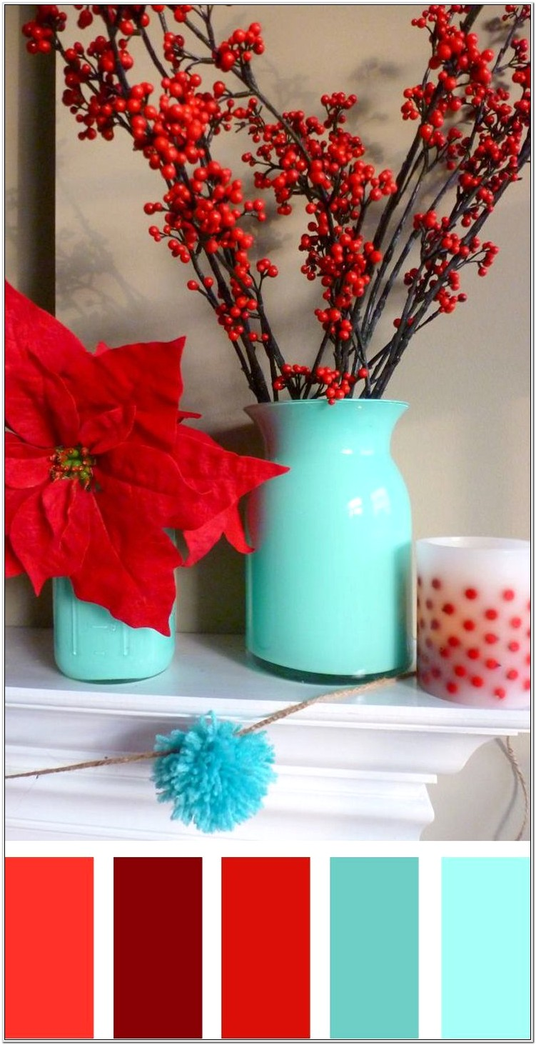 Cherry Teal Red Bedroom Decor