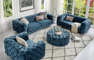 Chesterfield French Living Room Set