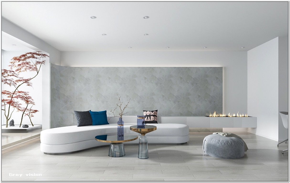 Chinese Living Room Design White Walls