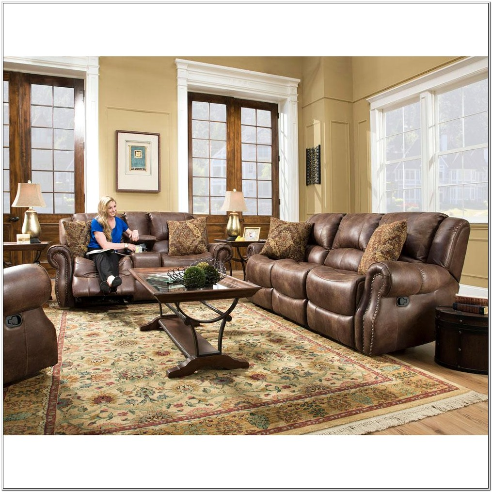 Chocolate Recliner Living Room Set