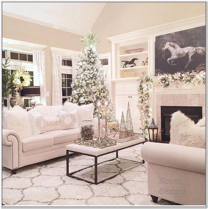 Christmas Living Room Decorations Pinterest