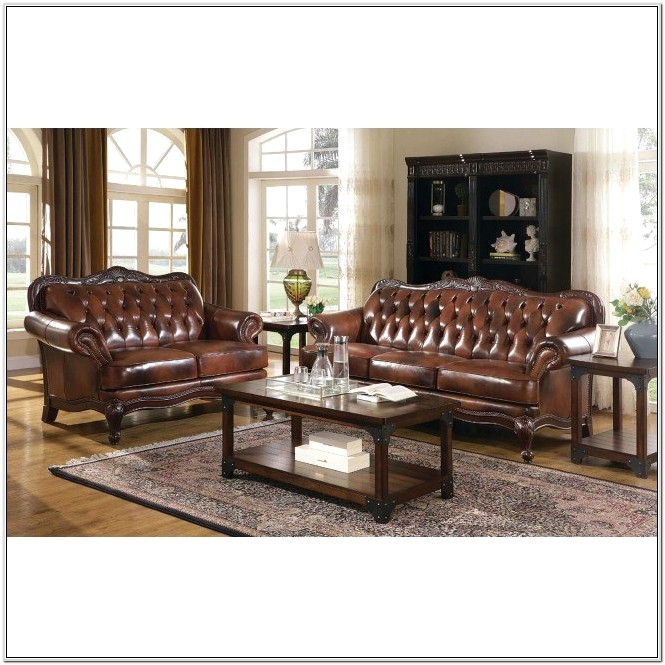 Coaster Victoria Leather Living Room Set
