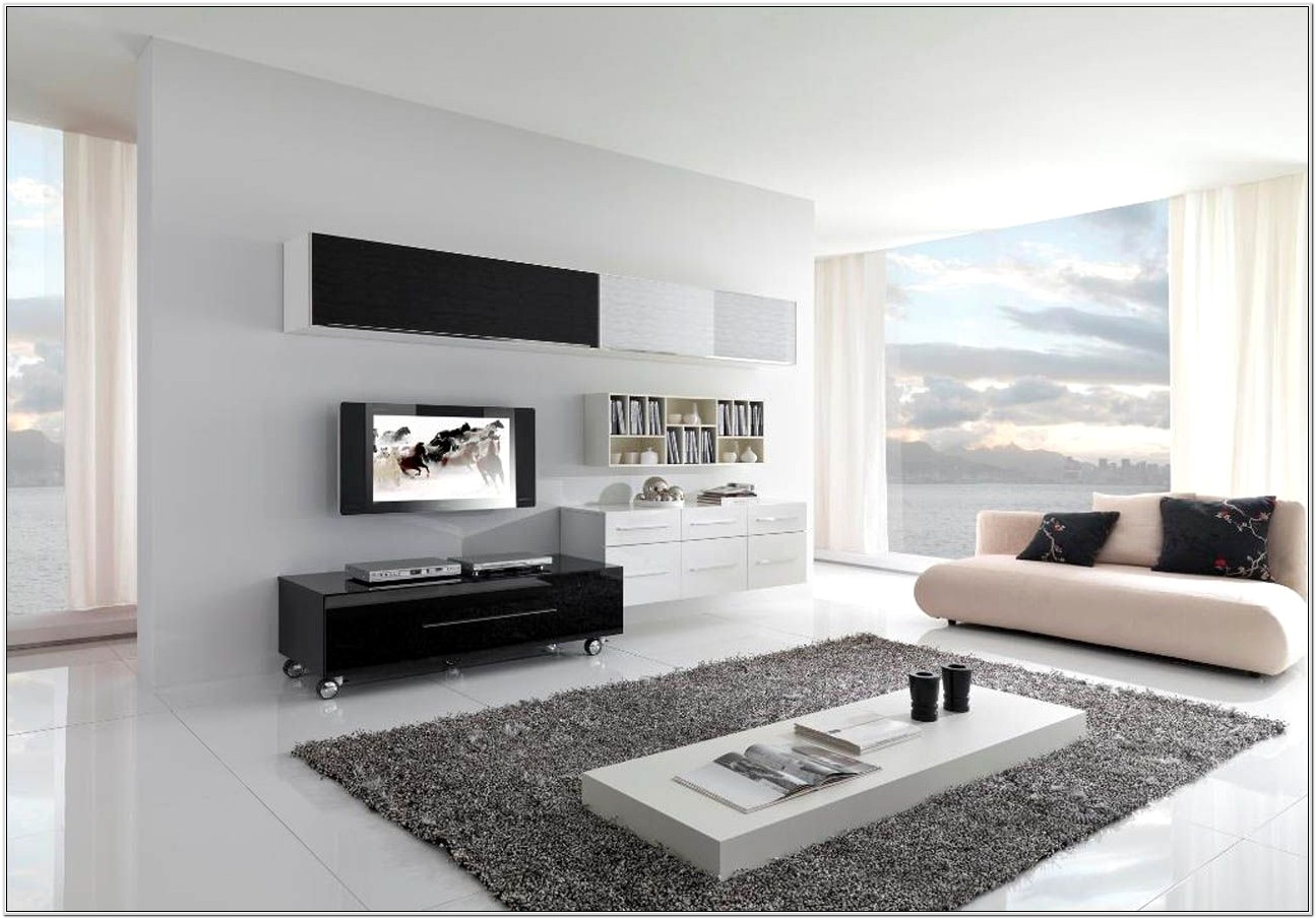 Contemporary Black Living Room Designs