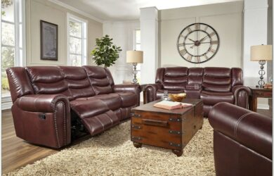 Corinthian Leather Living Room Set