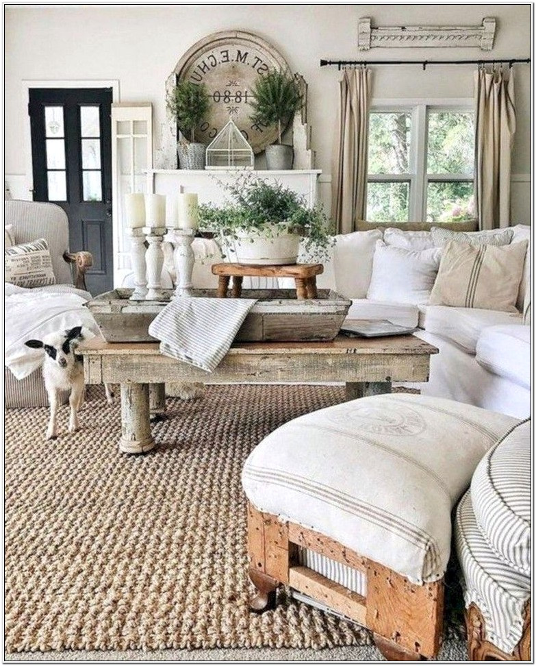 Country Chic Living Room Designs