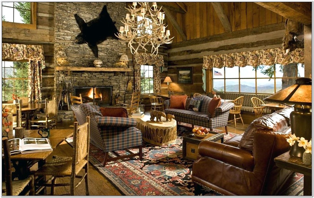 Country Design Green Living Room