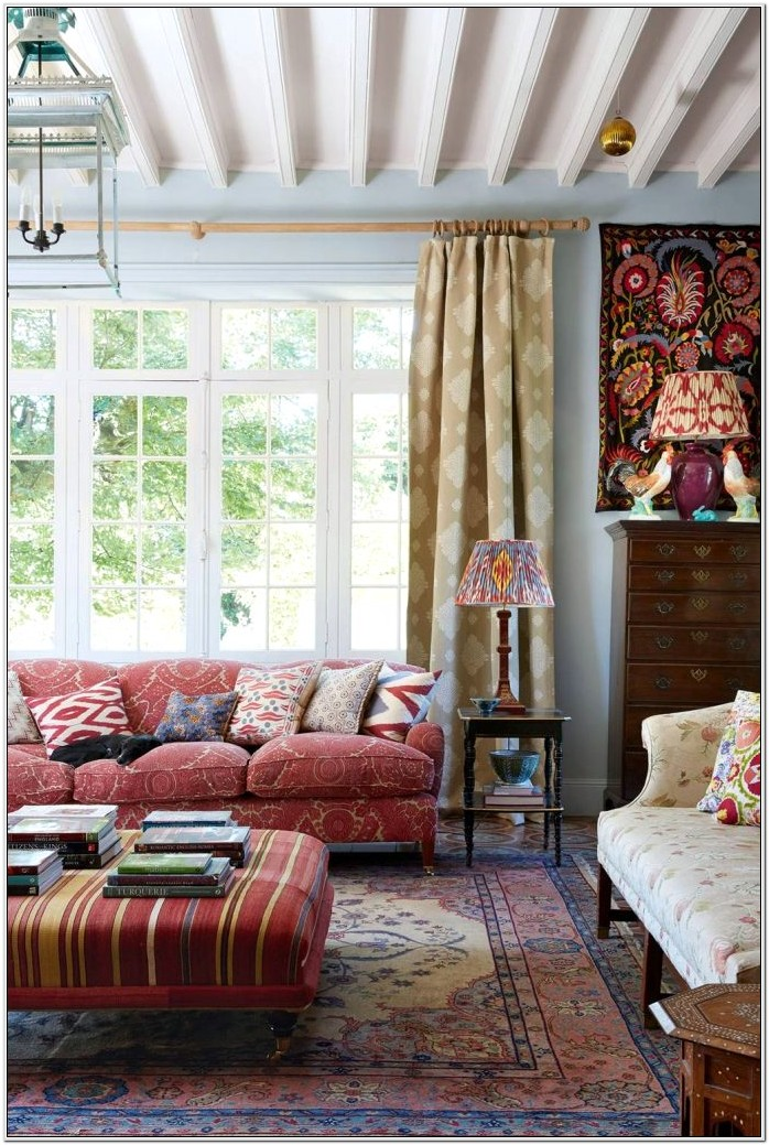Country Living Room Ideas Green
