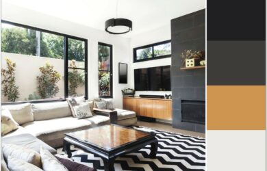 Dark Accent Wall In Small Living Room