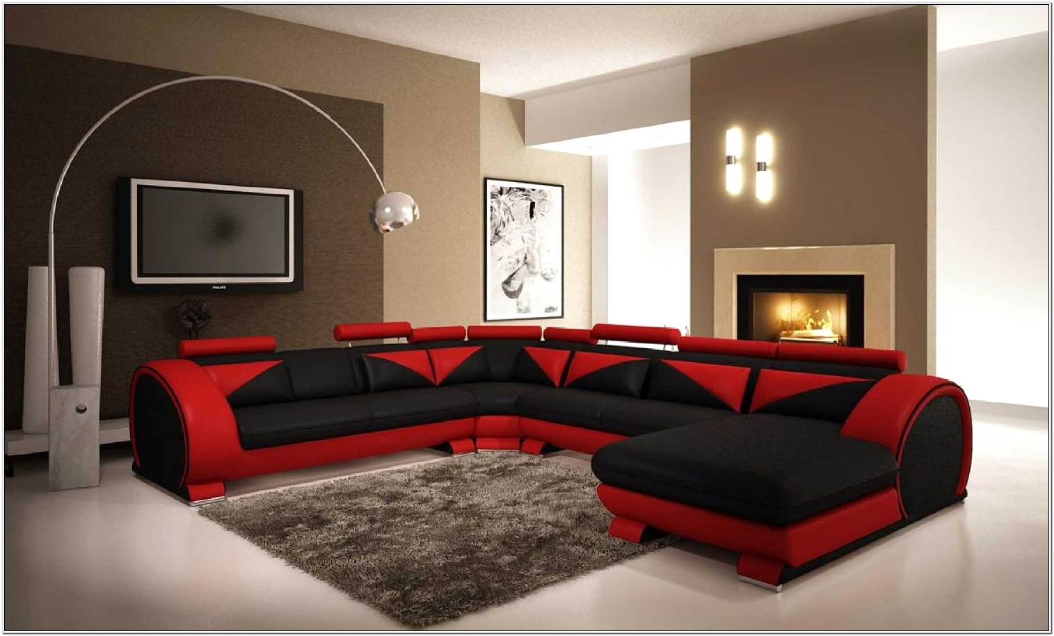 Dark Brown And Red Living Room Ideas
