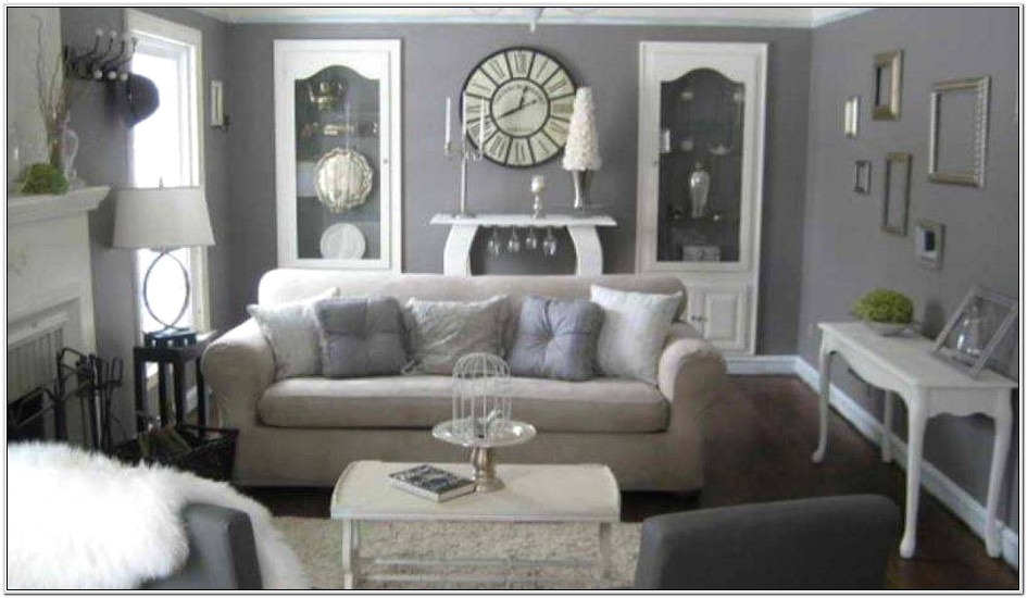 Dark Brown And White Living Room Design