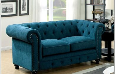 Dark Teal Living Room Set