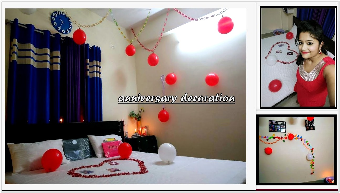 Decorate Bedroom With Balloons On Anniversary