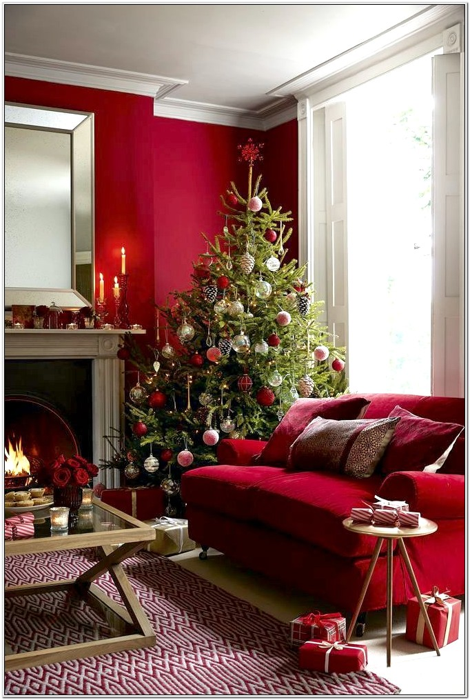Decorate Living Room With Deep Red