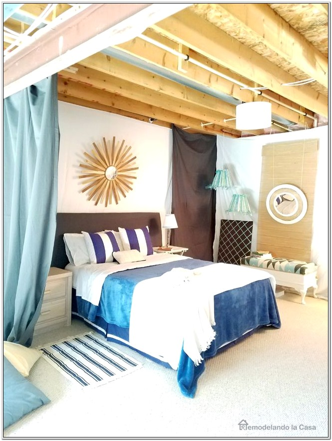 Decorate Unfinished Basement As Spare Bedroom