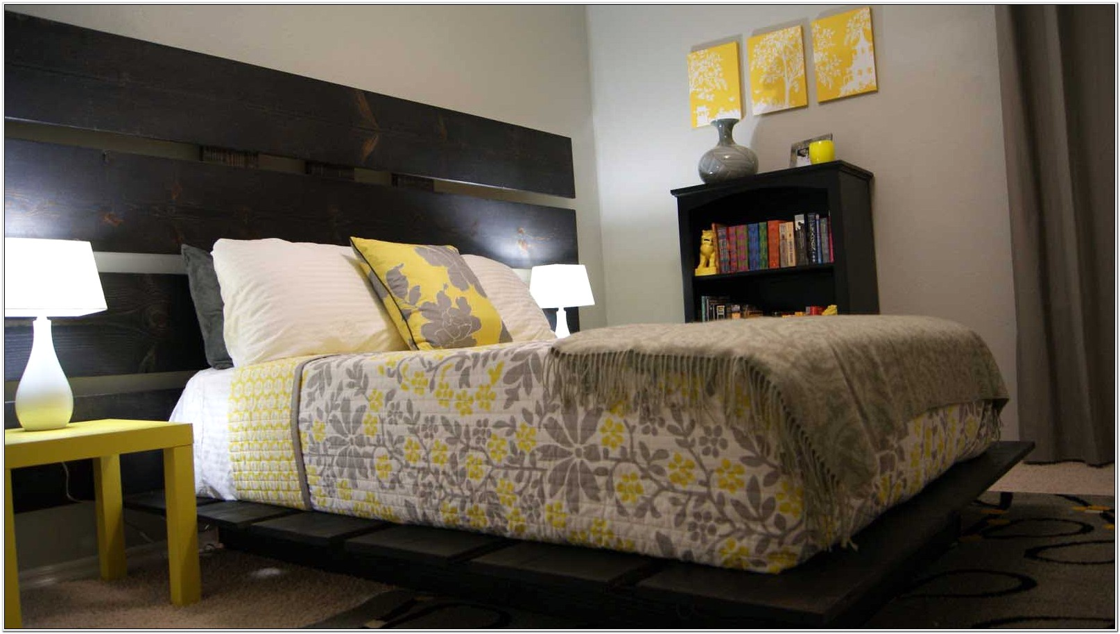 Decorating A Bedroom With Grey And Evergreen