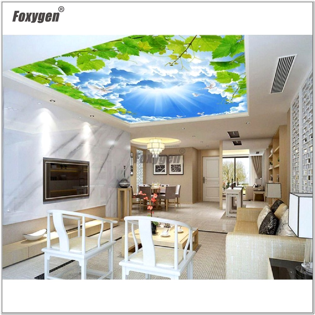 Decorating A Living Room Ceiling With Fabric