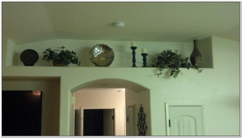 Decorating A Plant Shelf In Living Room