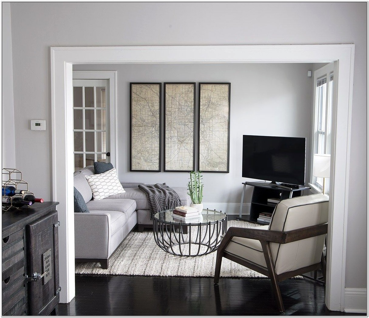 Decorating A Small Gray Walls Living Room