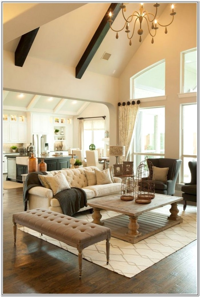 Decorating Cathedral Ceiling Living Room