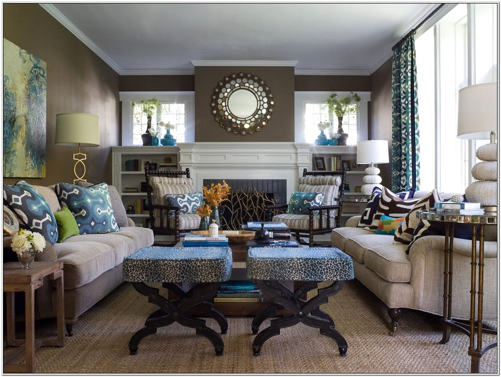 Decorating Contemporary Living Room With Trim