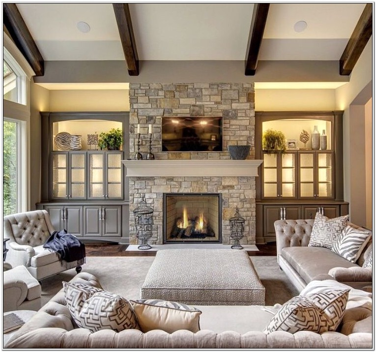 Decorating Ideas For Living Room Fire Place