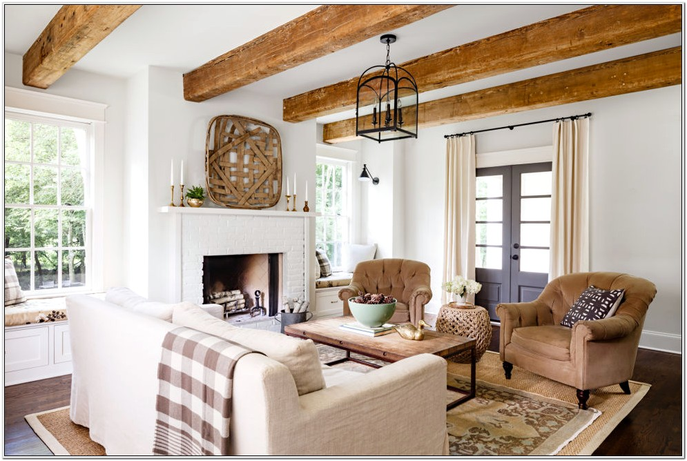 Decorating Large Living Room With Fireplace
