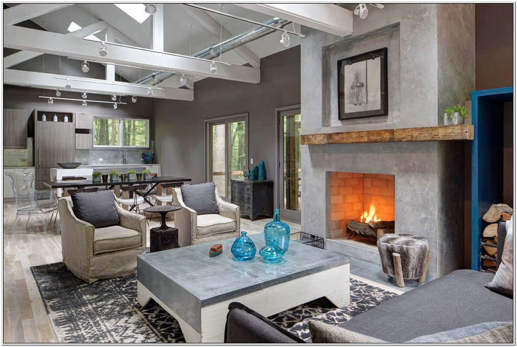 Decorating Living Room With A Fireplace