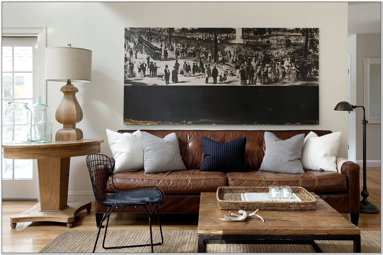 Decorating Living Room With Brown Leather Couch